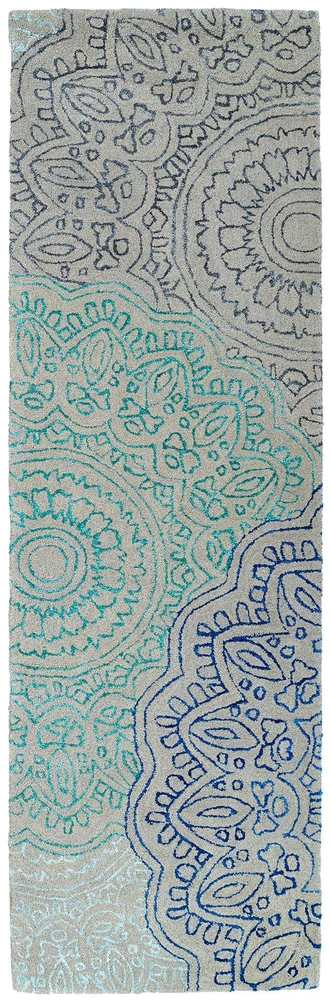走廊过道灰色美式花纹地毯贴图图片