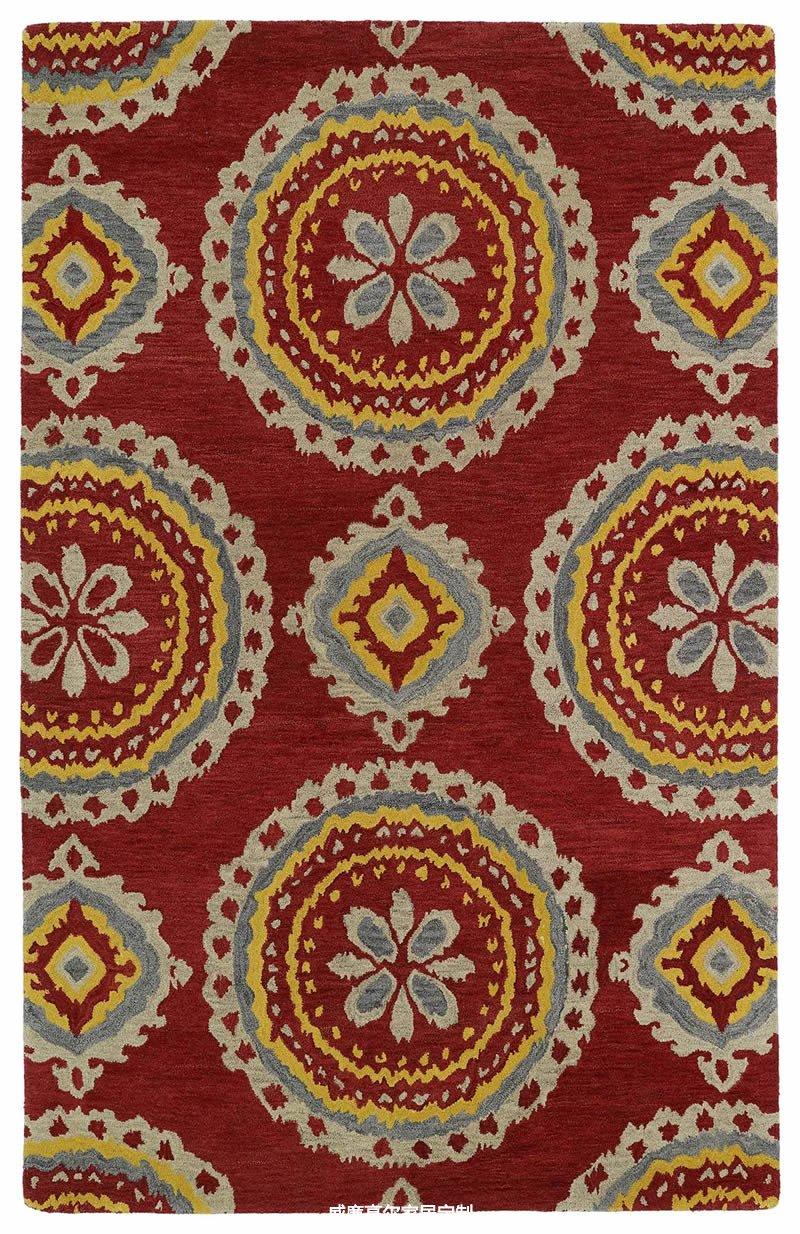 美式风格浅灰色花纹地毯贴图图片