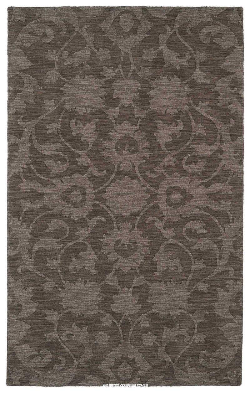 美式风格咖色花纹地毯贴图图片
