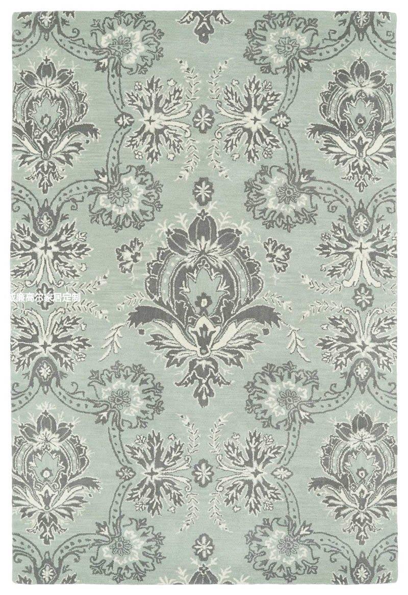 青灰色美式花纹地毯贴图图片