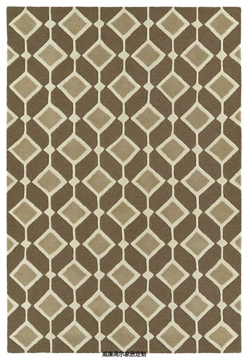 现代风格咖色几何图案地毯贴图图片
