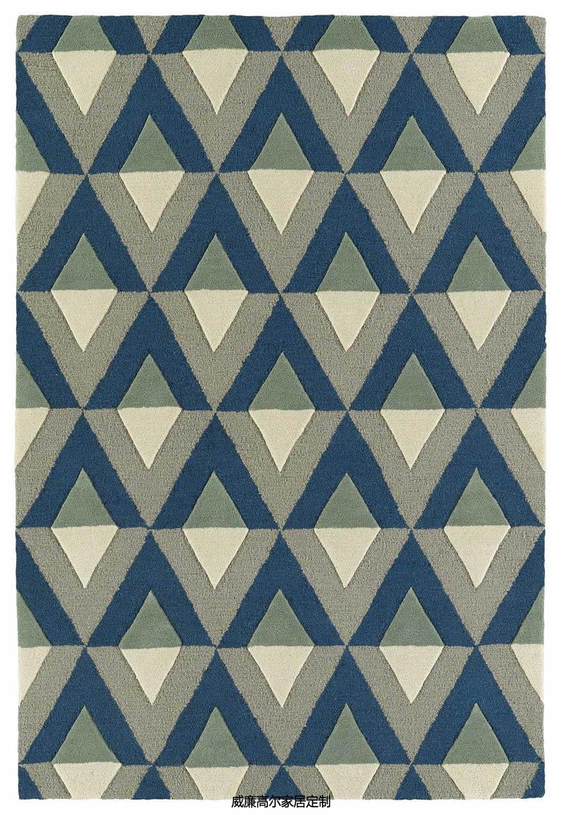 现代简约几何棱形图案地毯贴图图片