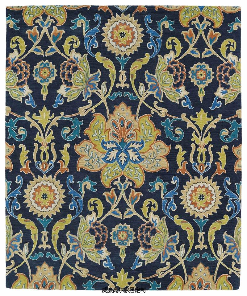 美式风格漂亮花纹圆形地毯贴图图片