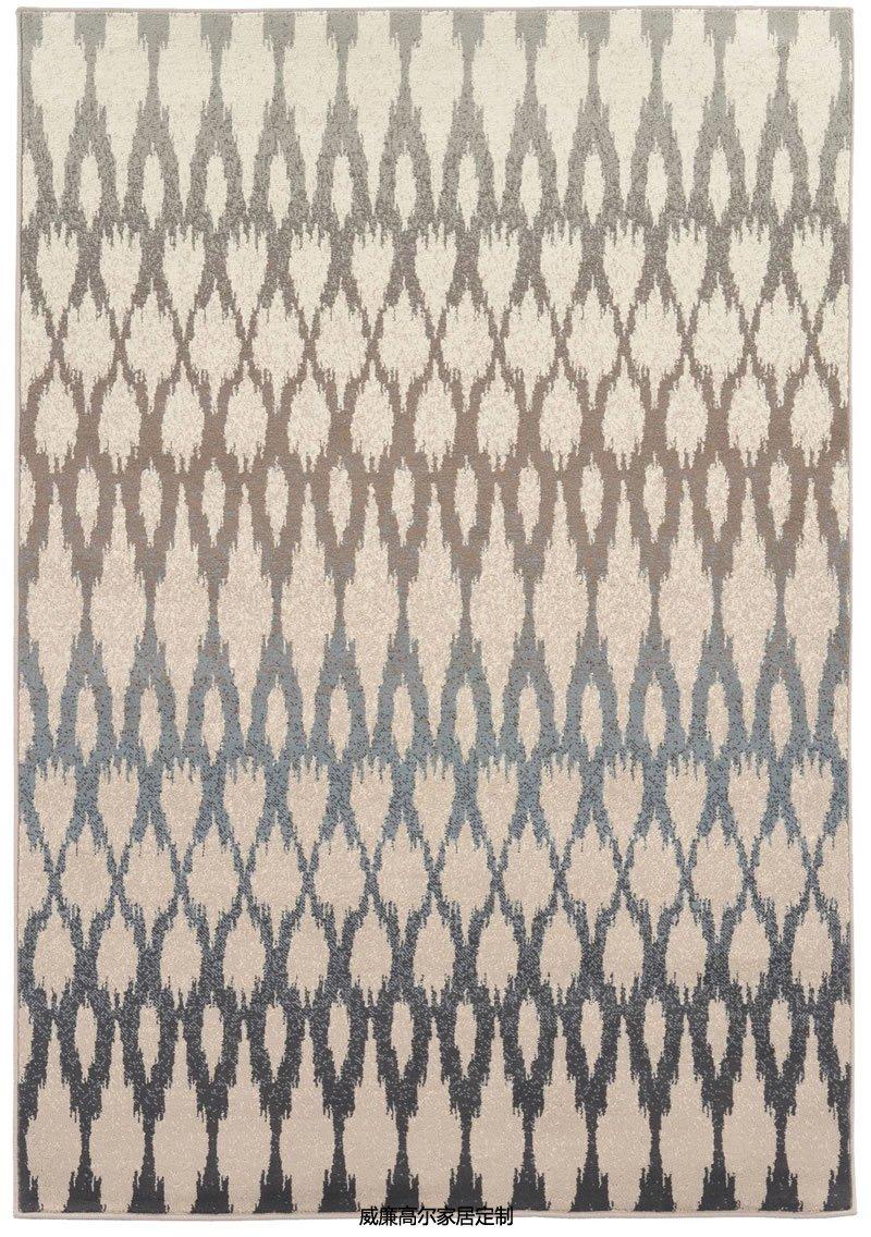 现代简约风几何渐变图案地毯贴图图片