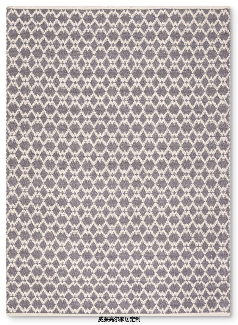 现代风格灰色几何图案地毯贴图图片