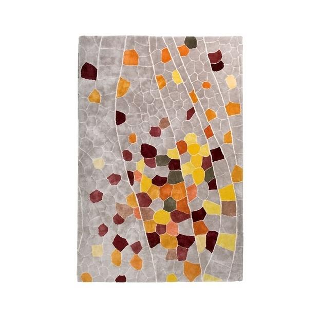 现代风格灰色底彩色几何图案地毯贴图图片