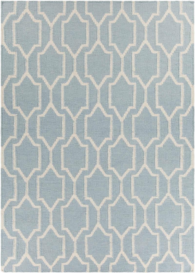 现代简约天蓝色几何图案地毯贴图图片