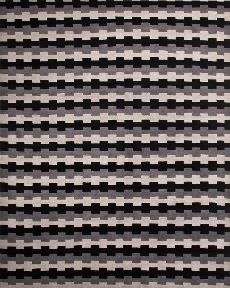 现代风格白橘色几何图案地毯贴图图片