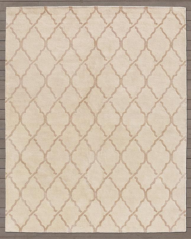 现代风格米黄色几何图案地毯贴图图片