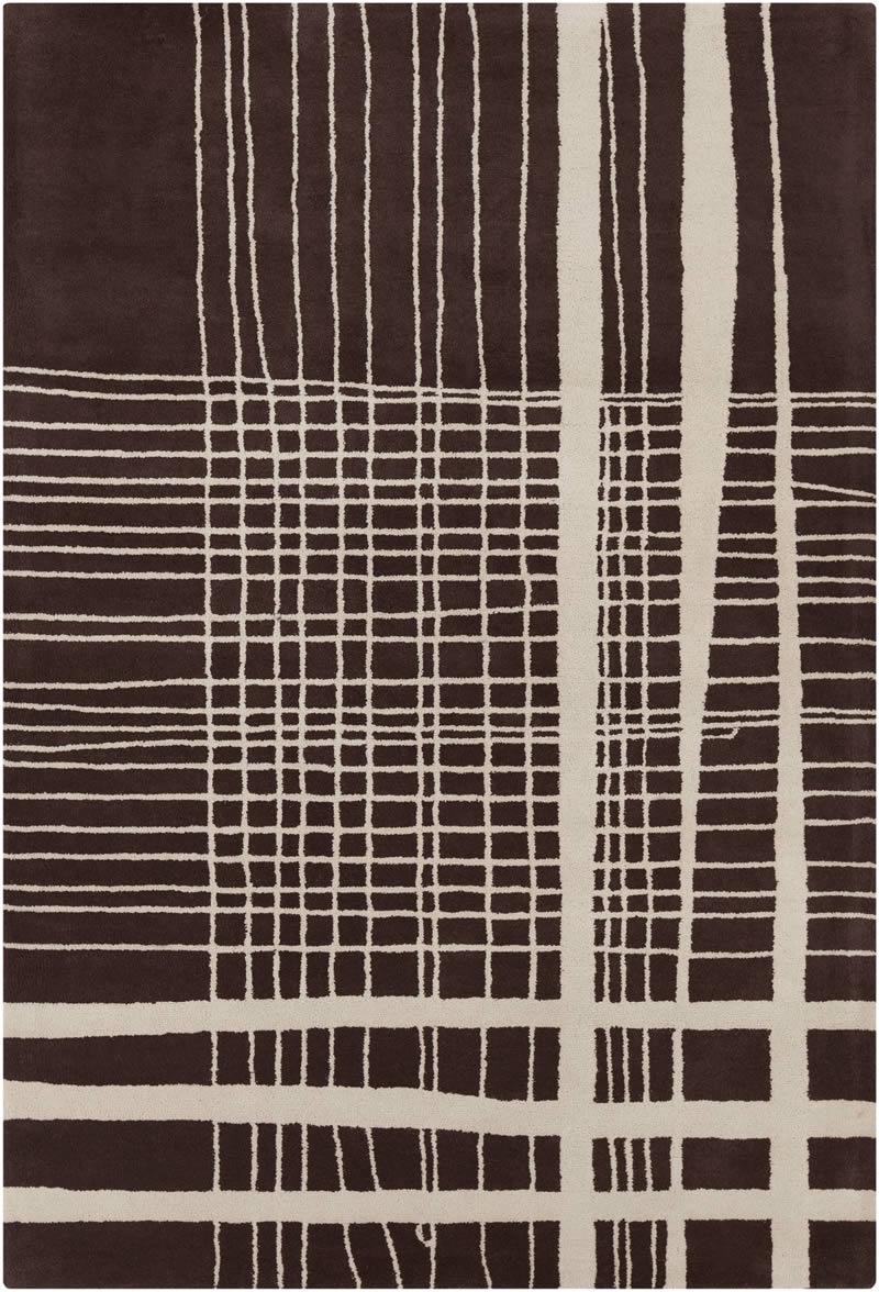 现代风格深咖色几何线条图案地毯贴图图片
