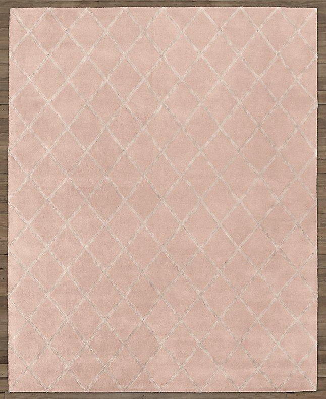 现代美式粉红色几何图案地毯贴图图片