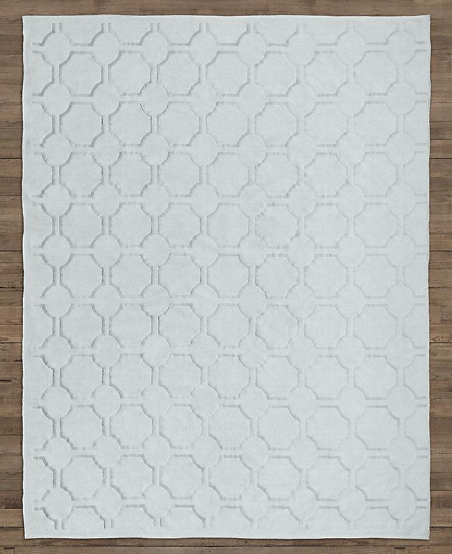 现代简约浅蓝色几何图案地毯贴图图片