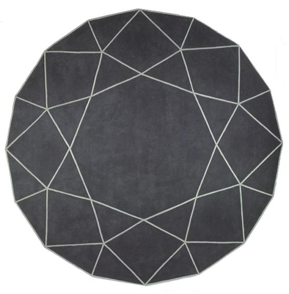 现代风格灰色简单几何线条图案地毯贴图图片