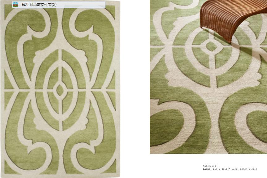 现代简约灰色简单几何图案地毯贴图图片