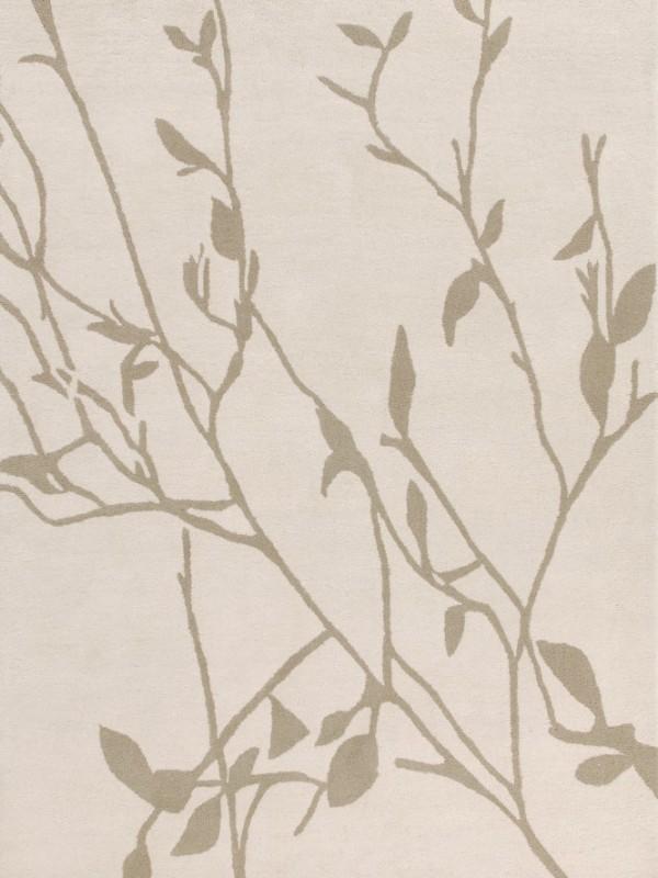 现代简约米灰色植物图案地毯贴图图片