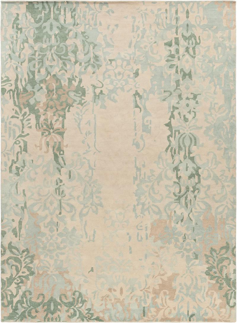 美式风格浅蓝色花纹图案地毯贴图-高端定图片