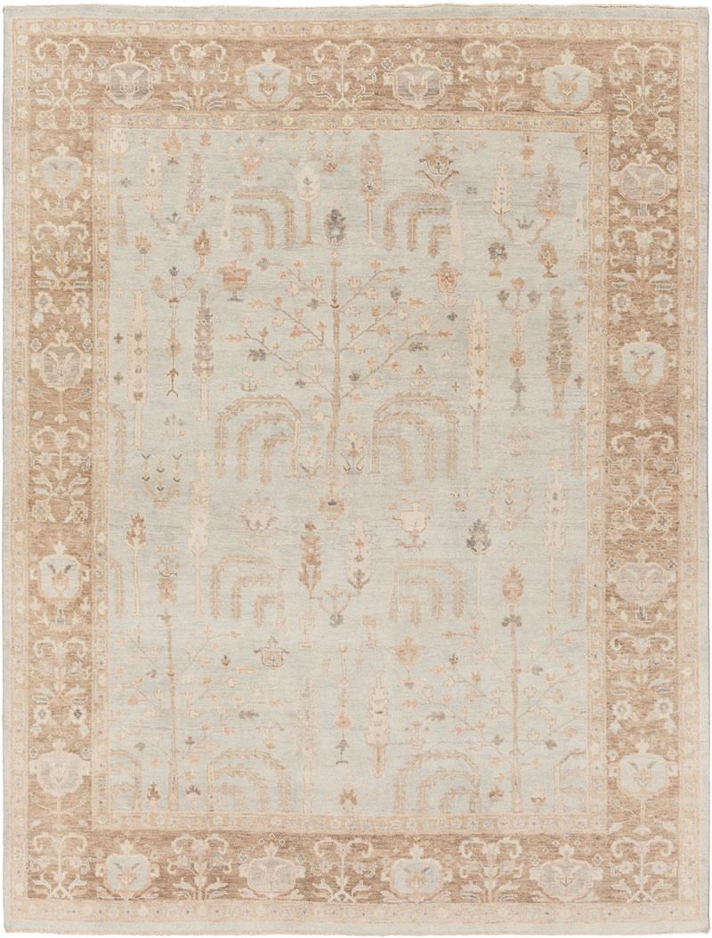 美式风格复古浅色花纹图案地毯贴图-高端定制图片