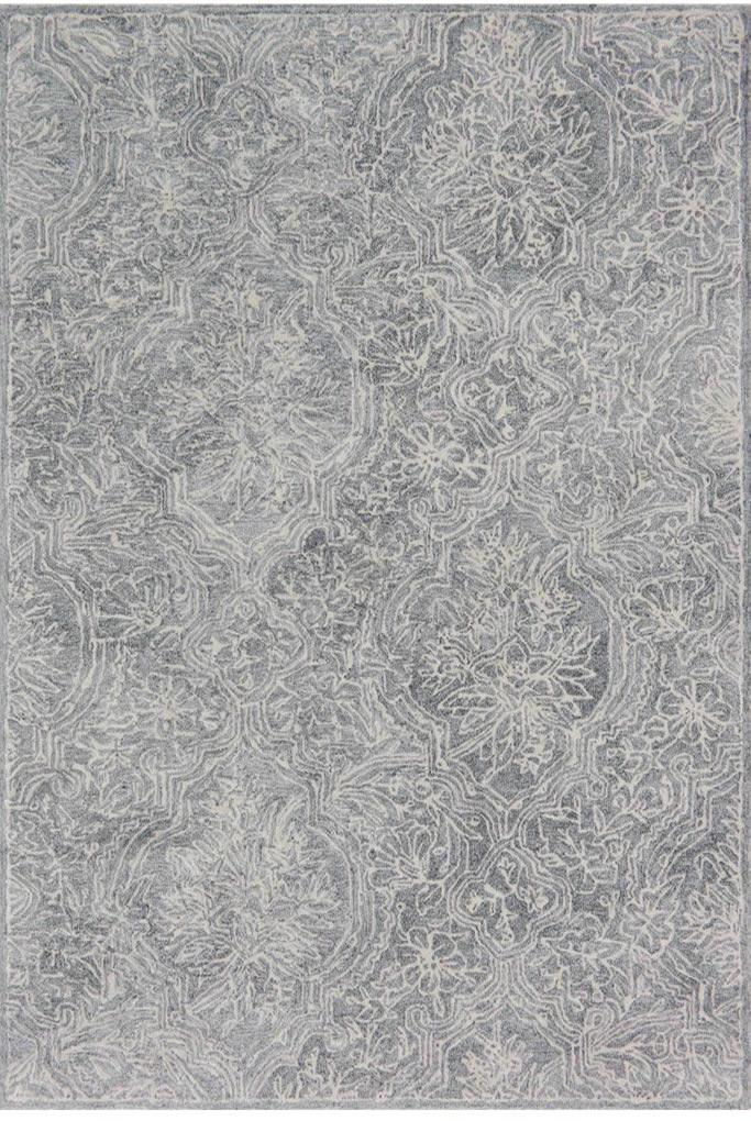现代风格橘灰色几何条纹图案地毯贴图-高端定制图片