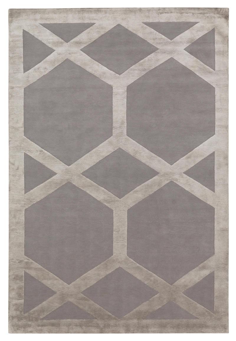 新中式灰色简单几何图案地毯贴图图片