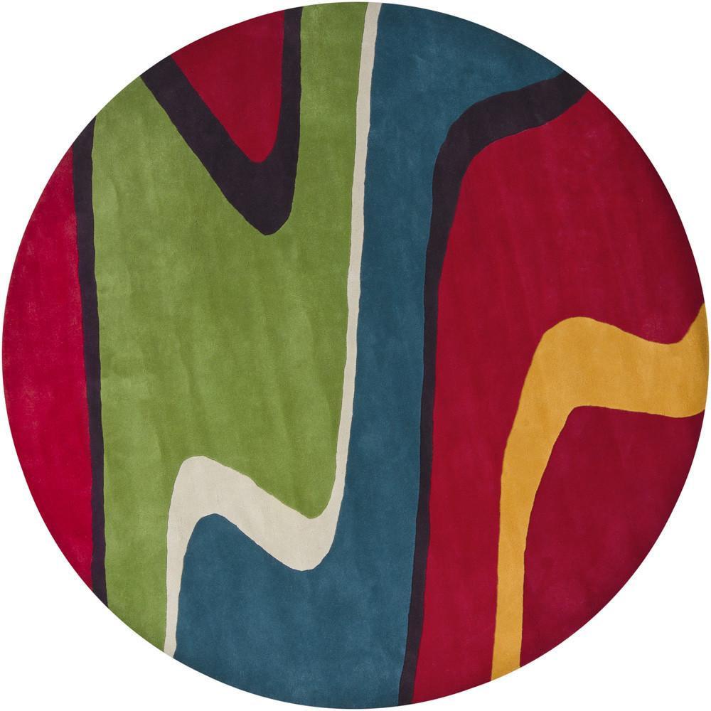 新中式圆形简单几何图案地毯贴图-2图片