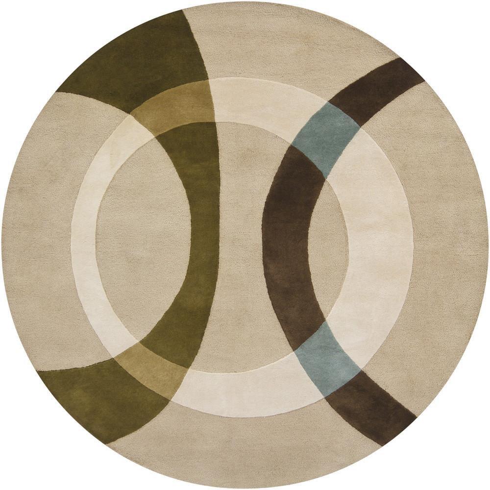 新中式圆形简单几何图案地毯贴图-3图片