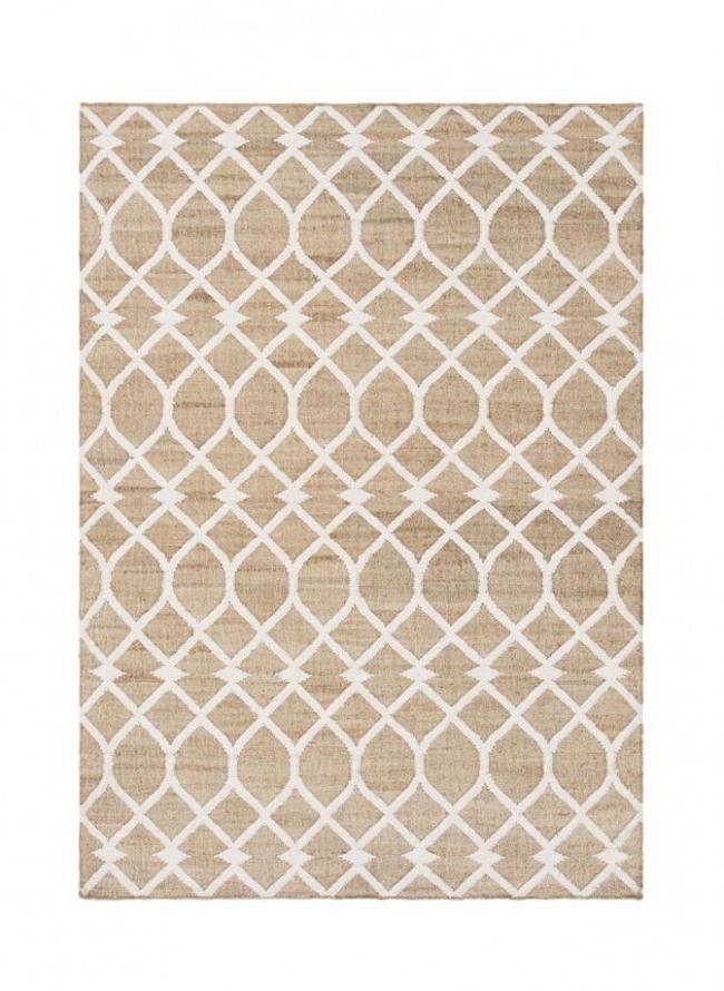 现代风格白色几何纹理图案地毯贴图图片