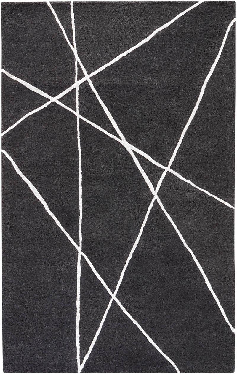 现代风格黑白简单几何线条图案地毯贴图图片