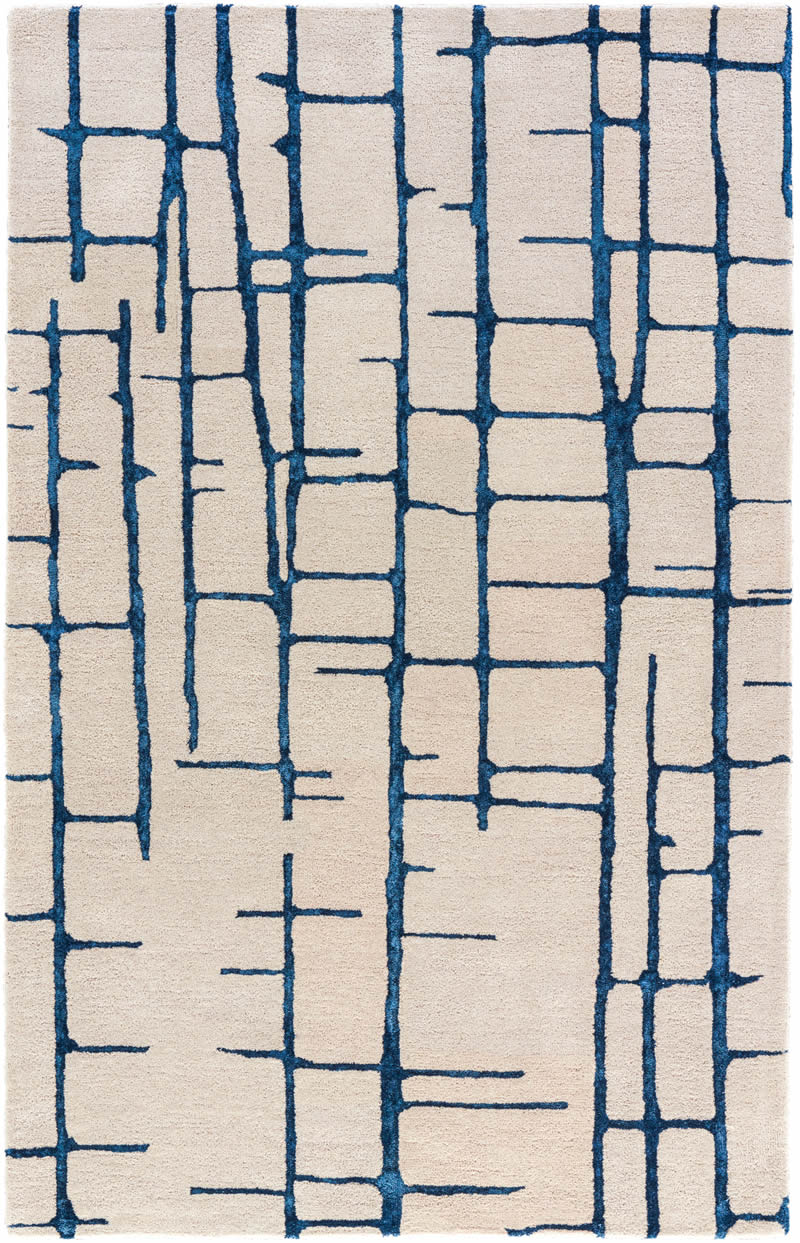 现代风格粉灰色简单几何线条图案地毯贴图-2图片
