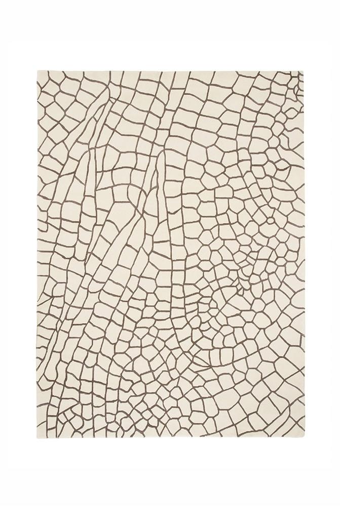 现代风格白灰几何抽象图案地毯贴图图片