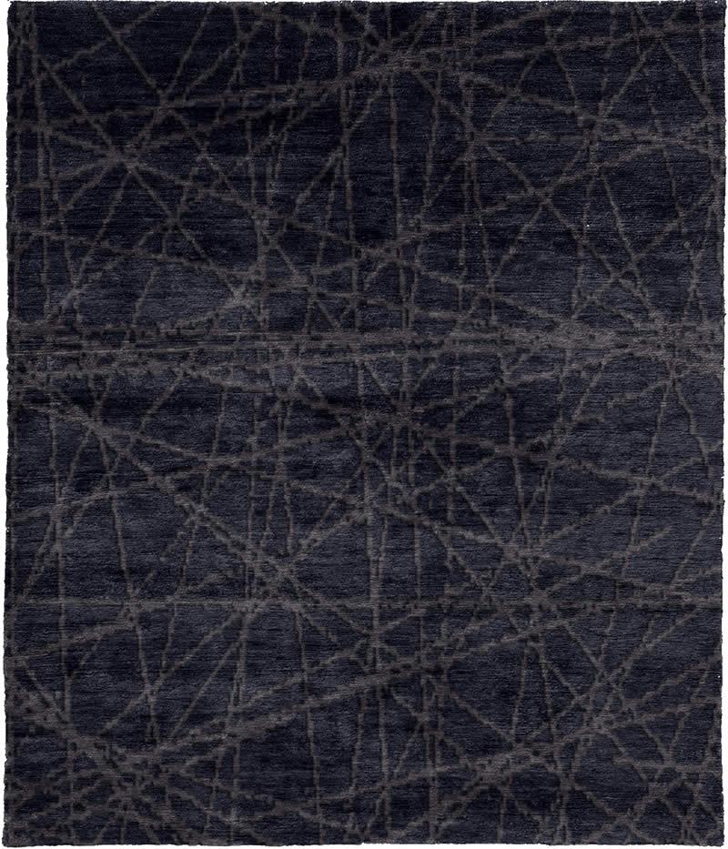 现代风格墨灰色几何线条图案地毯贴图图片