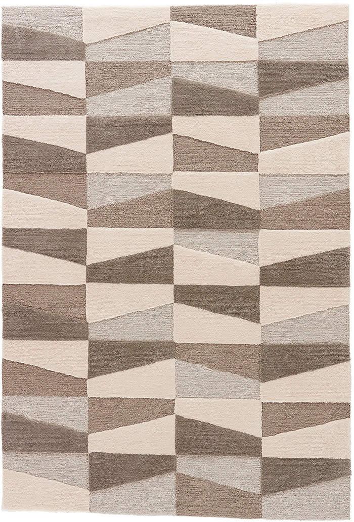 现代风格咖暖白色几何图案地毯贴图图片
