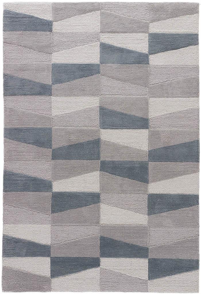 现代风格灰墨色几何图案地毯贴图-2图片