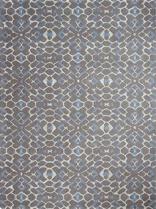 现代风格灰蓝色几何纹理图案地毯贴图图片