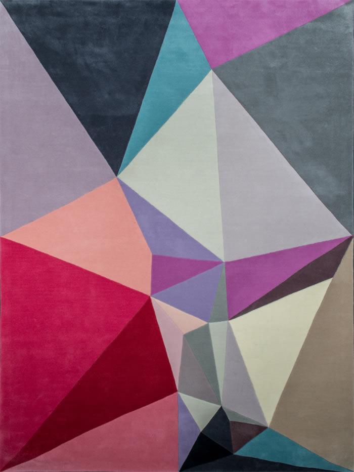 现代简约简单红色几何图案地毯贴图图片