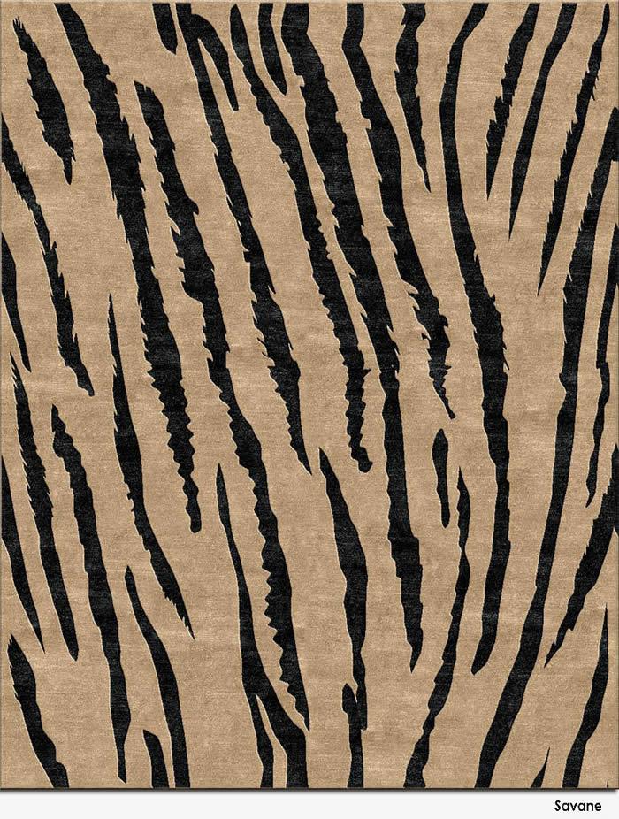 新中式虎纹纹理图案地毯贴图