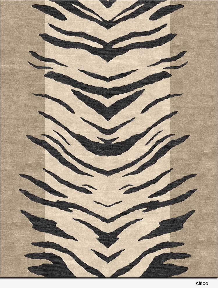 现代风格简单虎纹图案地毯贴图