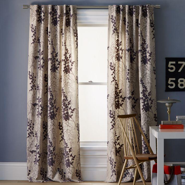 新中式古典风客厅窗帘图片